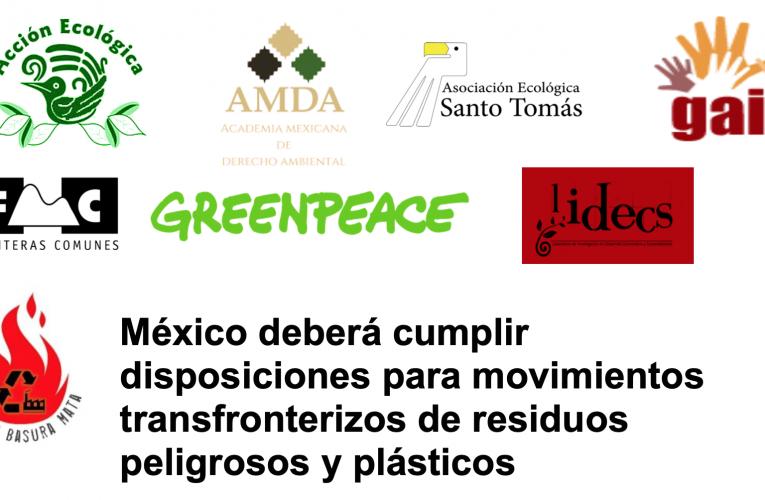 México deberá cumplir disposiciones